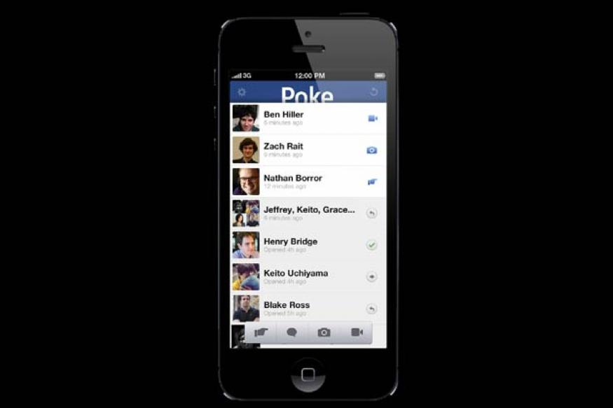 Facebook Poke app for iOS released, lets users send self-destructing messages