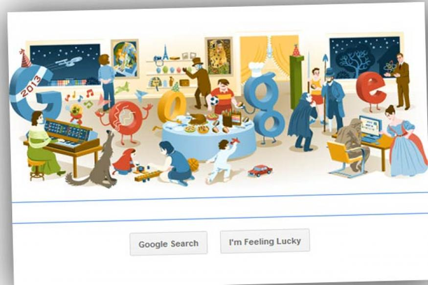 From New Year's Eve 2012 to Grimm's Fairy Tales, Google doodles a doodle of doodles