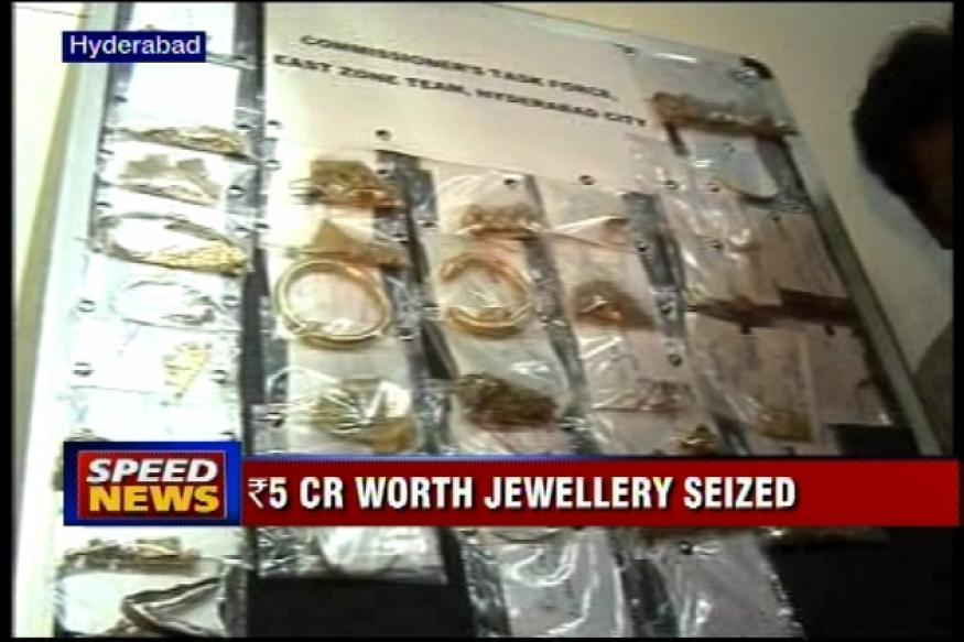 Hyderabad: Rs 5 cr worth jewellery seized