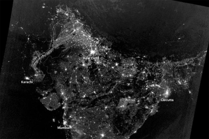 NASA releases the real India on Diwali night image