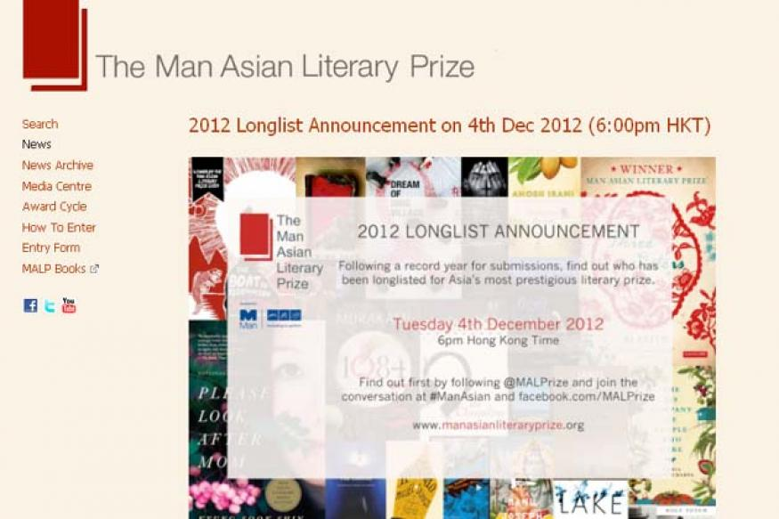 Three Indian writers in Man Asian Prize longlist