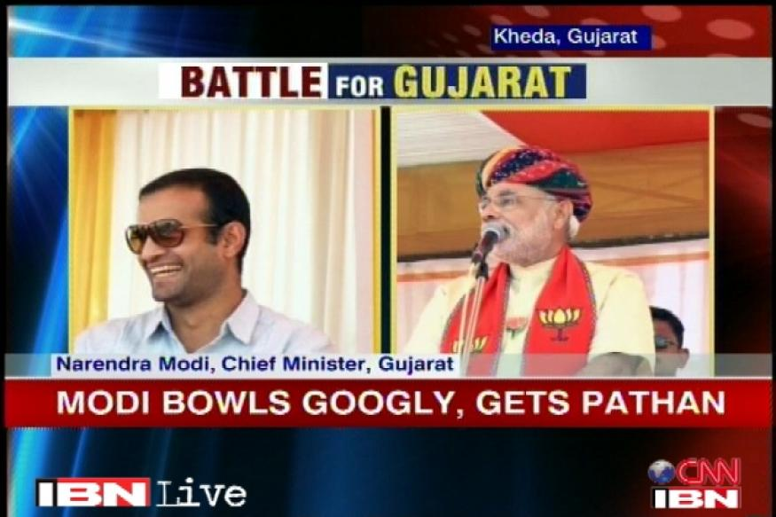 Gujarat polls: Irfan Pathan in support of Modi