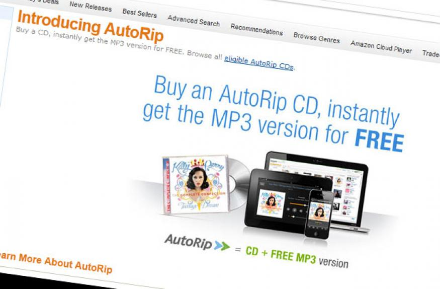 Amazon launches AutoRip, offers free digital versions of CDs