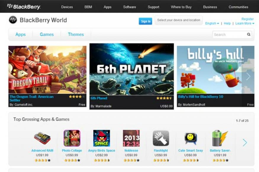 RIM relaunches app store as 'BlackBerry World', adds music and videos
