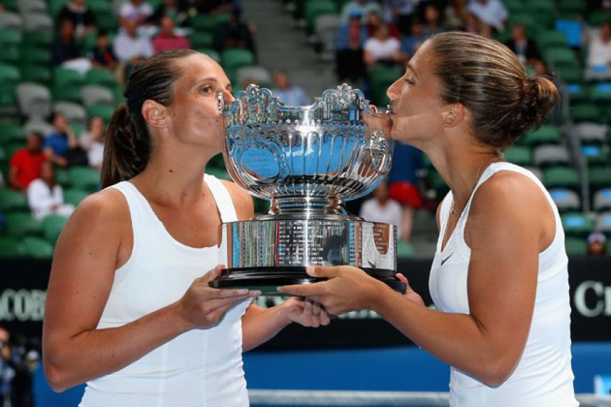 Italian pair wins Australian Open doubles title