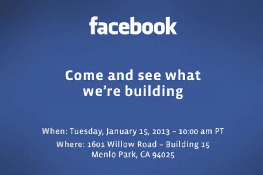 Facebook schedules mystery event for January 15, rumoured to launch Facebook phone