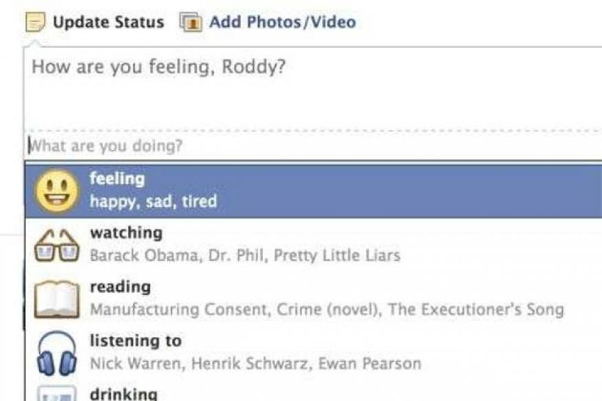 Facebook will soon let you post emoticons as status messages