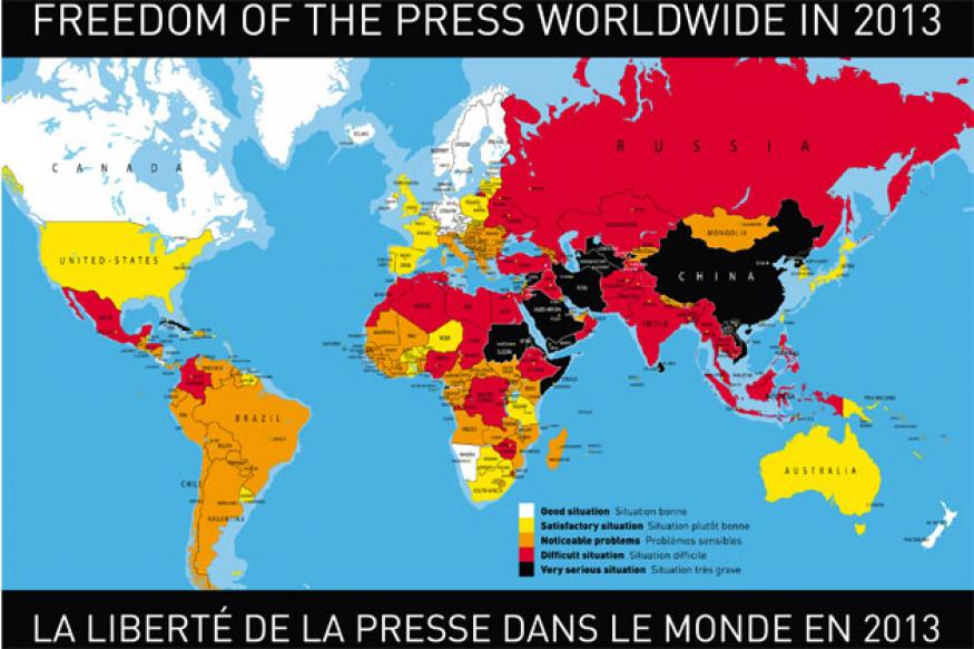 India drops to 140th rank in press freedom, lowest since 2002