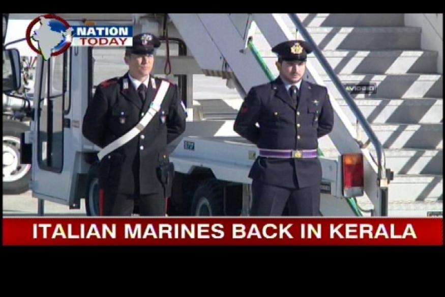 Italian marines return to Kochi