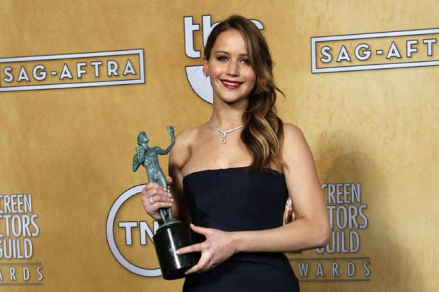 Jennifer Lawrence declared best actress at SAG Awards