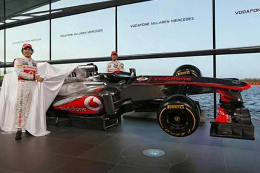 McLaren present new car with a blast from the past