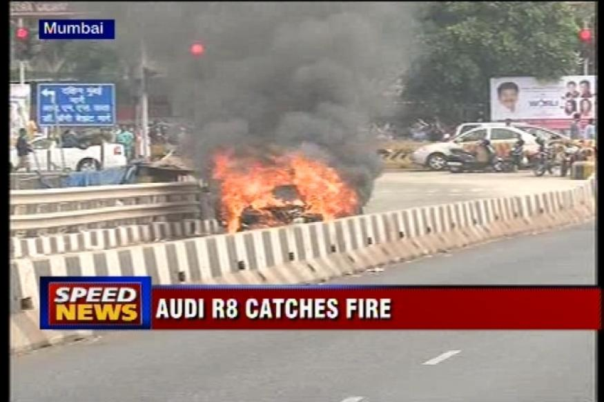 Audi R8 supercar catches fire in Mumbai, passengers rescued