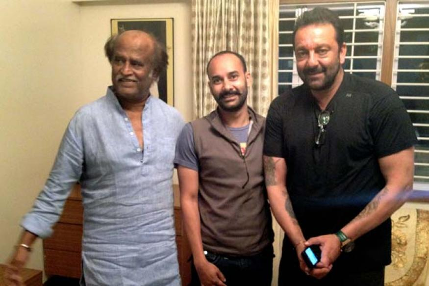 Sanjay Dutt turns Rajinikanth's bodyguard for a day