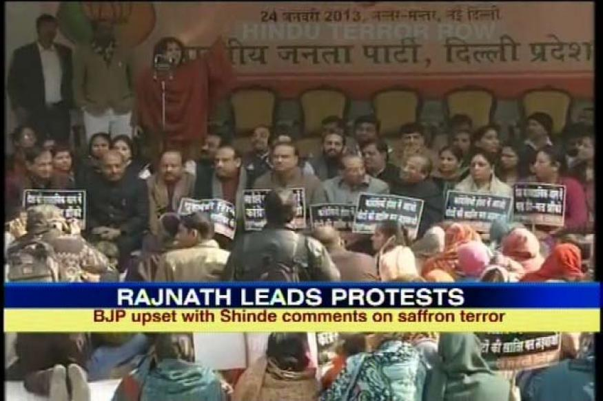 New BJP chief leads protests against Shinde in Delhi