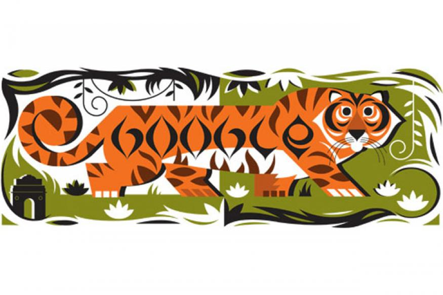 Republic Day India: Google doodles a tiger with Google stripes