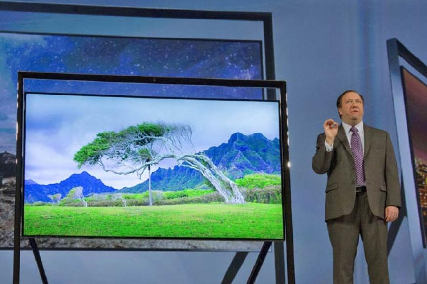 Samsung unveils gesture-control TVs at CES 2013