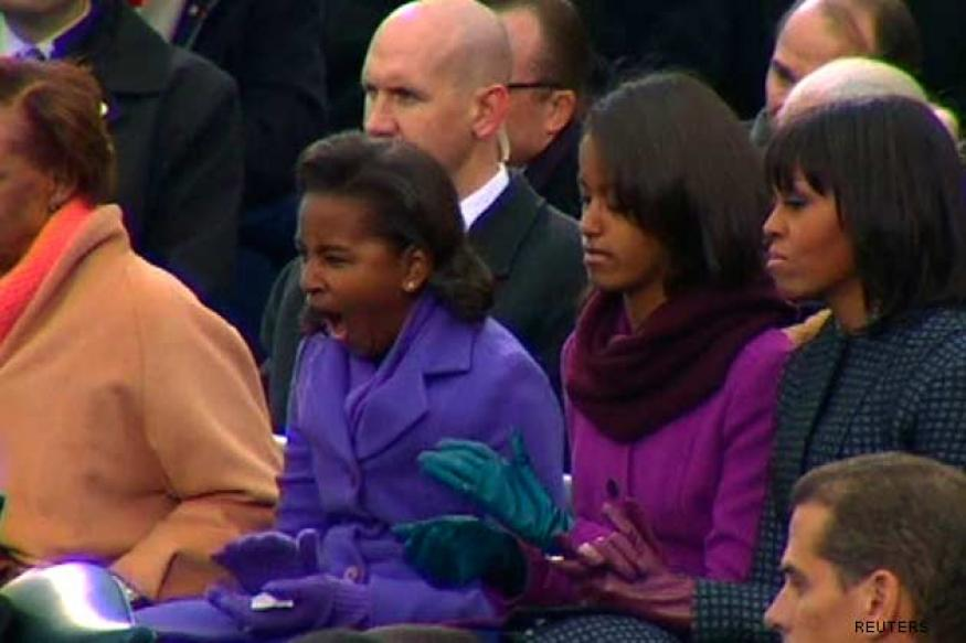 Sasha Obama's mighty yawn goes viral