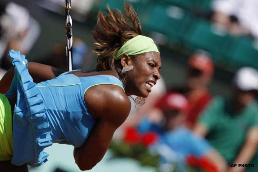 Serena beats Cornet in second round at Brisbane