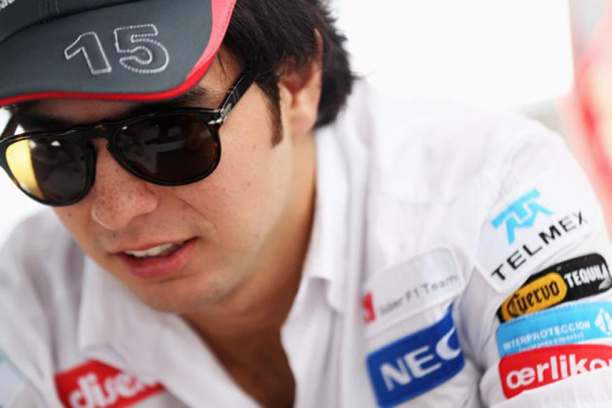 Sergio Perez flies in for first day at McLaren