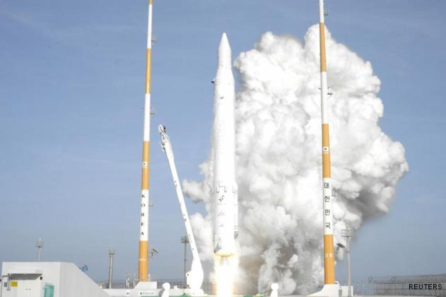 South Korea launches first civilian rocket