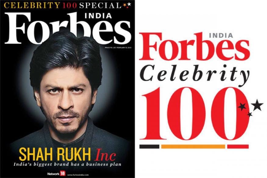 Shah Rukh tops Forbes India's 'Celebrity 100' list