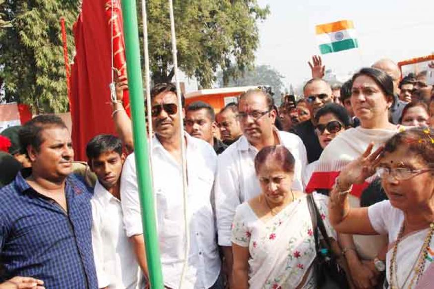 Snapshot: Ajay Devgn takes part in R-Day celebration