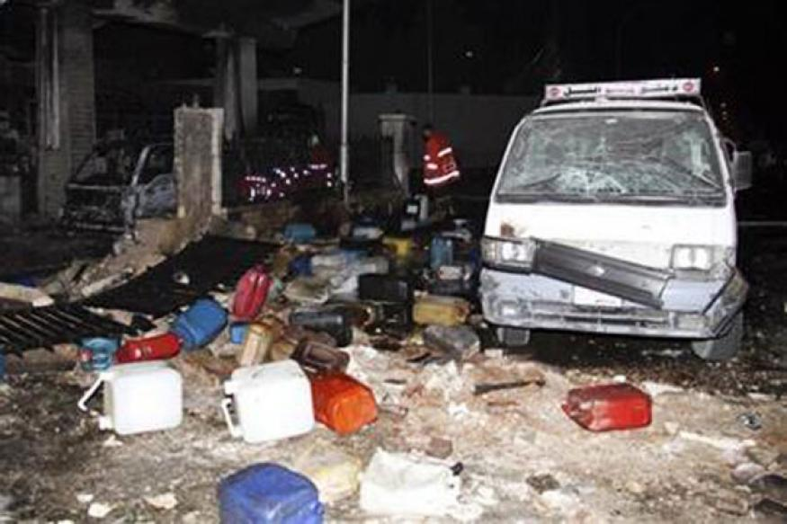 Syria blames rebels for petrol station blast in Damascus