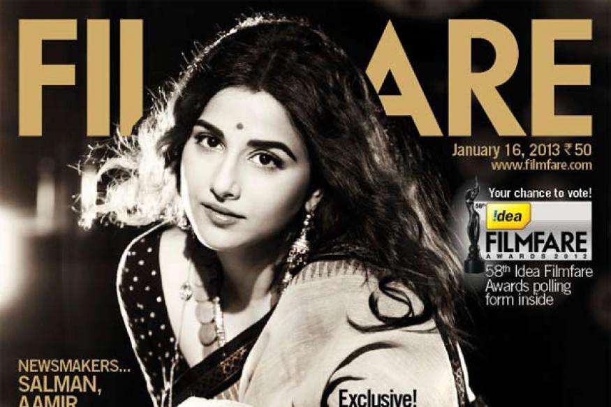 Vidya looks stunning in new Filmfare cover