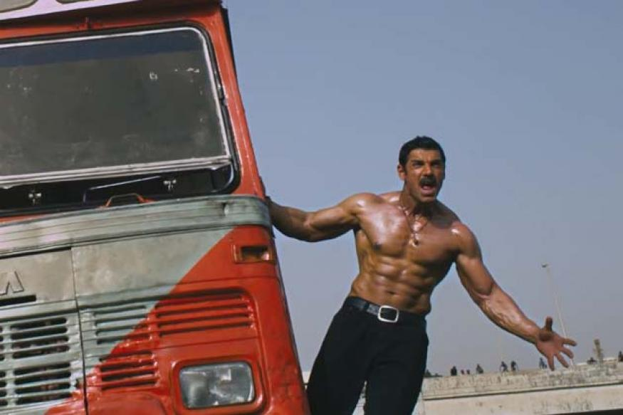 Is that Hulk? Is that Sandman? It's John Abraham!