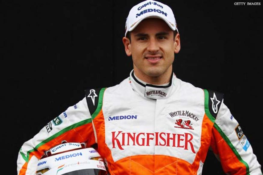 Adrian Sutil and Jules Bianchi in Force India test