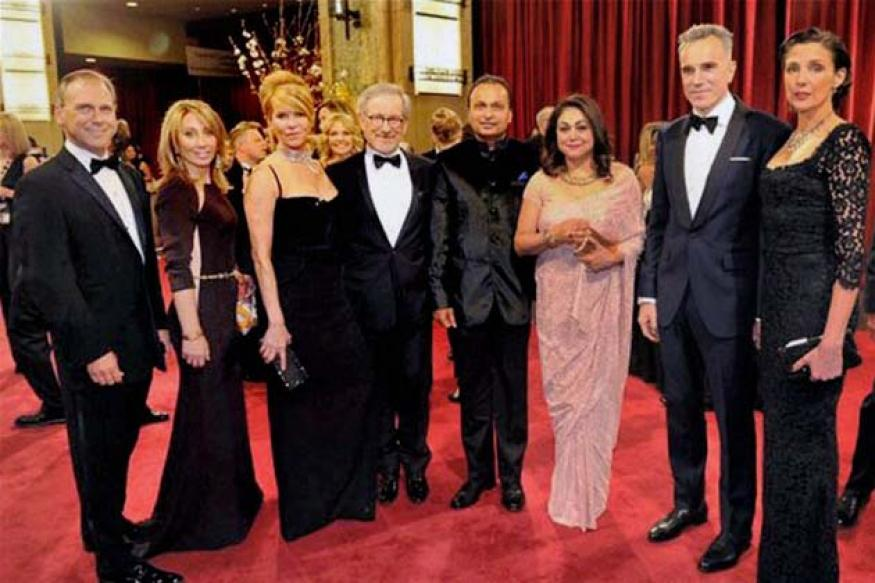 Snapshot: Anil and Tina Ambani pose with Daniel Day-Lewis