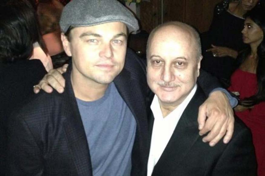 Snapshot: Anupam Kher seen with Leonardo Dicaprio