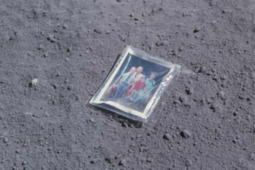 Apollo 16 astronaut left family photograph on moon
