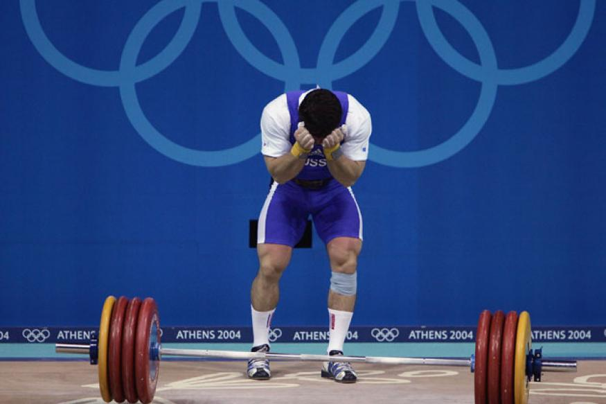 Russian weightlifter stripped of Athens bronze medal