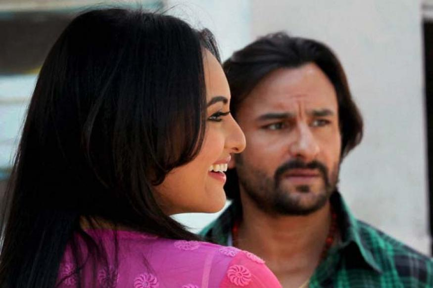 Snapshot: Saif, Sonakshi shoot for 'Bullet Raja'