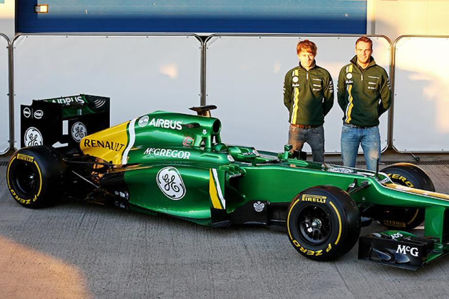Caterham launch 2013 car in Jerez