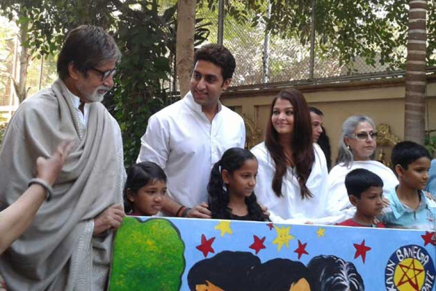 Bachchan family raises Rs 2.5 million for charity