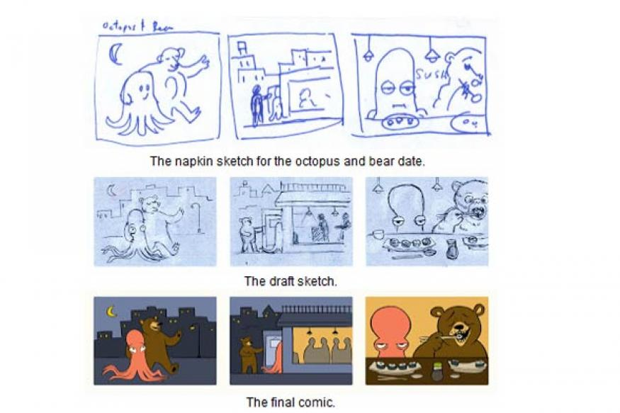 Here is how the George Ferris and Valentine's Day Google doodle was created
