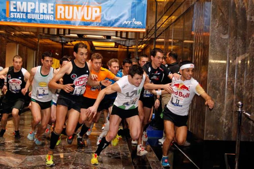 Up, up & away: Racers climb Empire State Building