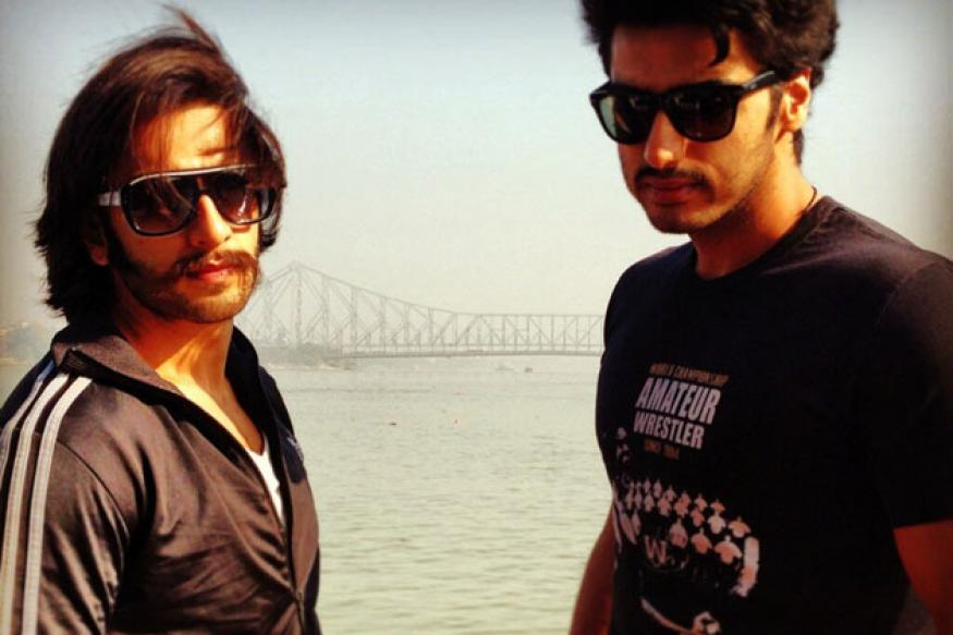 Snapshot: Ranveer, Arjun shoot for 'Gunday' in Kolkata