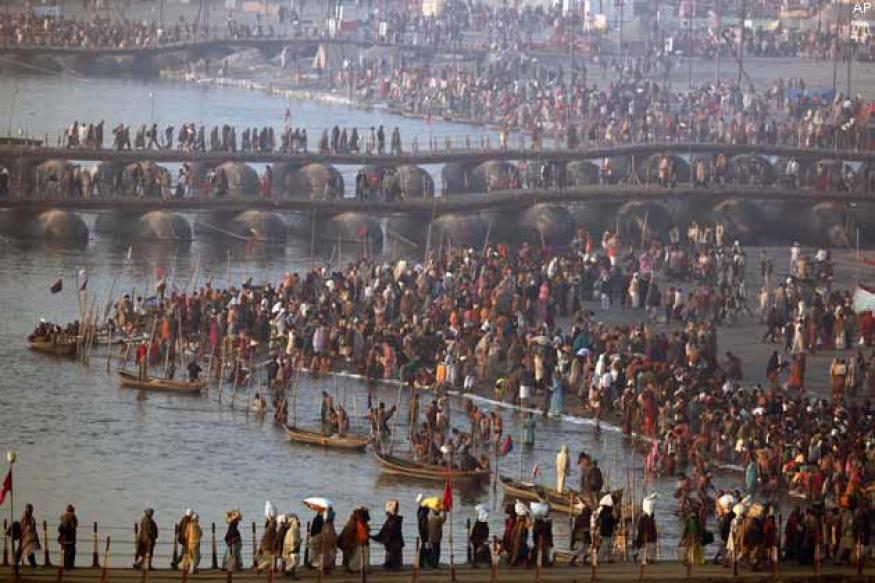 Over 3 crore take holy dip in Sangam on Mauni Amavasya