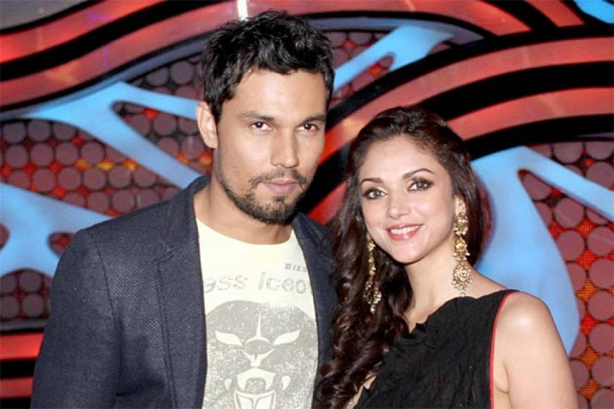 Snapshot: Randeep Hooda, Aditi Rao Hydari on the sets of 'Nach Baliye'