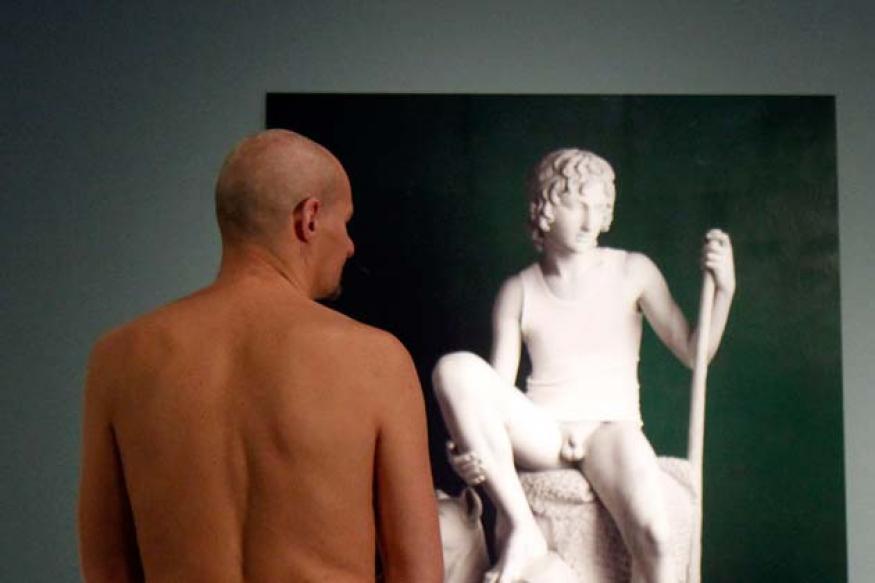 Snapshot: Naked men turn out to see...'Naked Men'