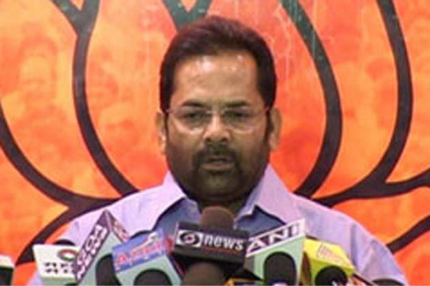 BJP's PM candidate from eight leaders: Mukhtar Abbas Naqvi