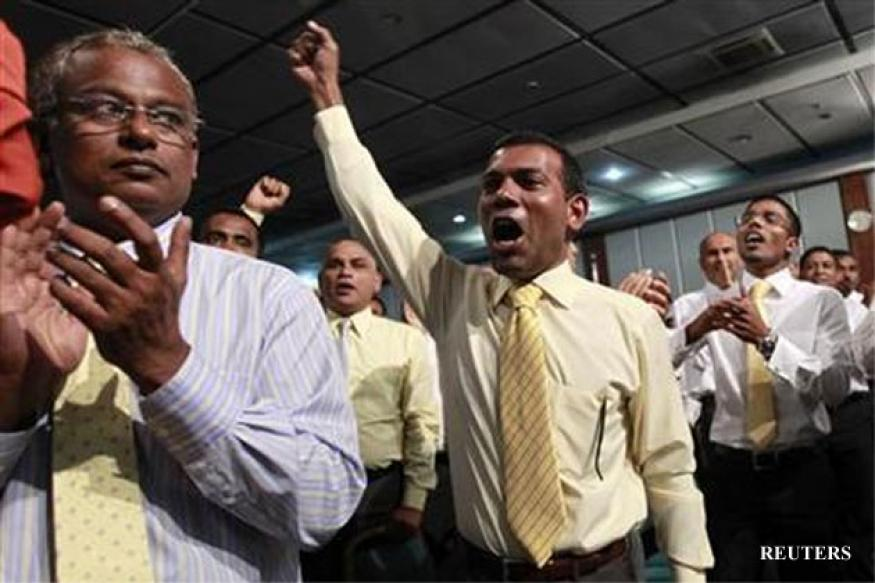 Nasheed remains in Indian mission for seventh day