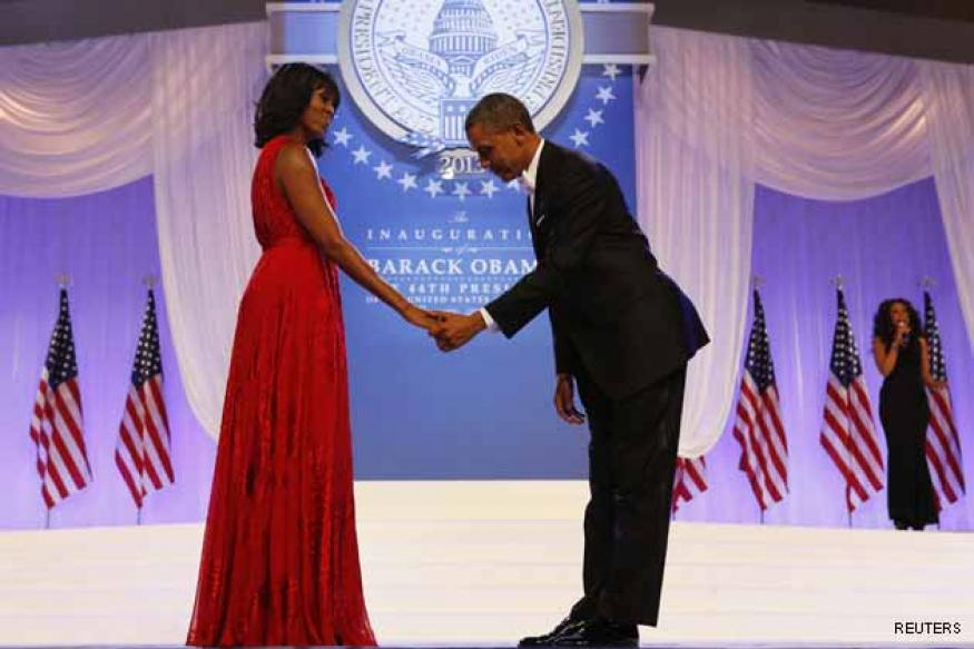 Obamas celebrate Valentine's Day in style