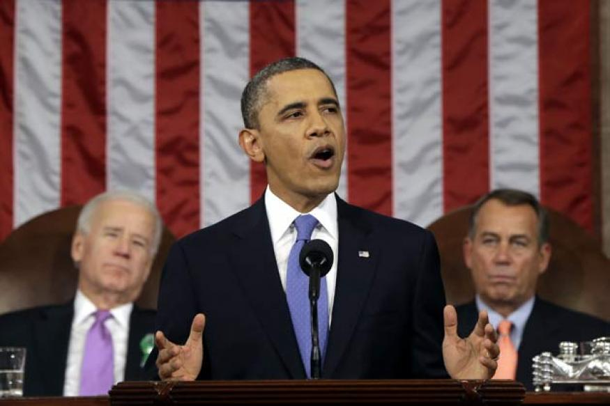 Obama presses for jobs in his first State of the Union address