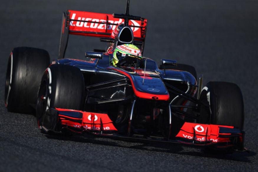 Perez puts McLaren on top in Barcelona testing