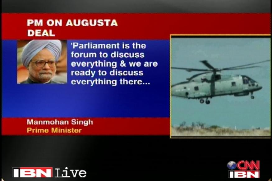 Italian chopper deal: PM says govt has nothing to hide
