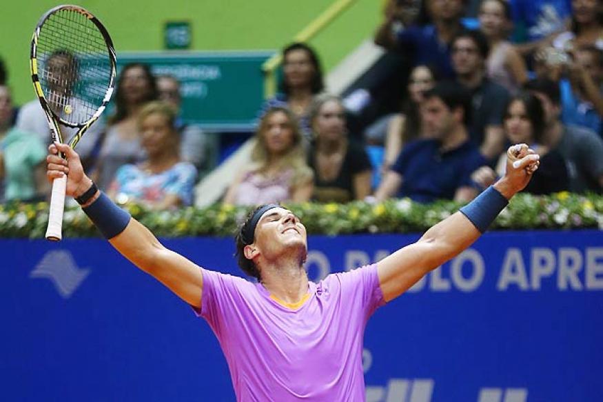 Nadal beats Nalbandian to win Brazil Open